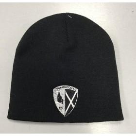 Cambusdoon FC Black Beanie Hat with Badge