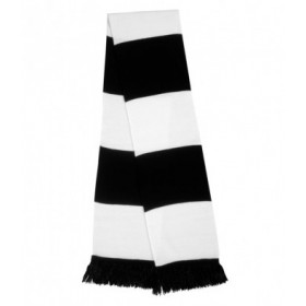 Cambusdoon FC Black and White Scarf