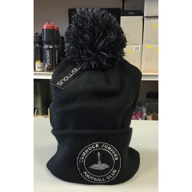 Cumnock Juniors Bobble Hat Black/Graphite