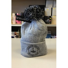 Cumnock Juniors Bobble Hat Graphite/Light Grey