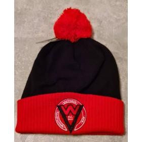 Whitlett's Victoria Black and Red Pom Pom Hat