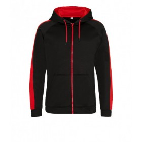 Whitlett's Victoria Black and Red Adult Hoody with Badge