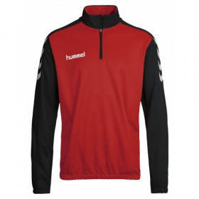Whitlett's Victoria Black and Red Hummel 1/2 Zip Sweat with Badge