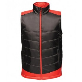 Whitlett's Victoria Black and Red Bodywarmer with Badge