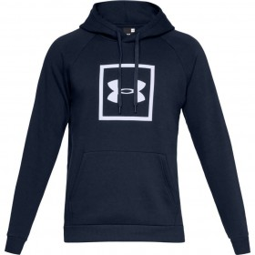 Under Armour Coldgear Navy Blue Hooded Top
