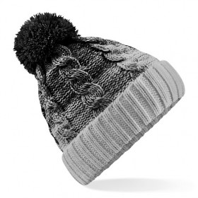 Beechfield Ladies Black Pom Pom Hat