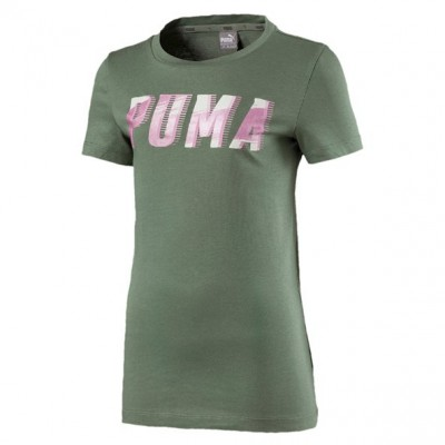Puma Style Graphic Girls Green T-shirt