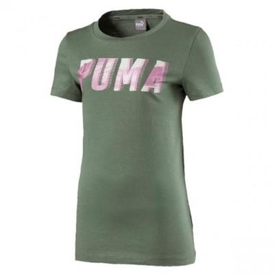 Puma Style Graphic Girls Green T-shirt