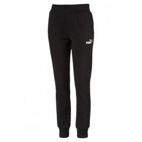 Puma Essentials Black Fleece Pants